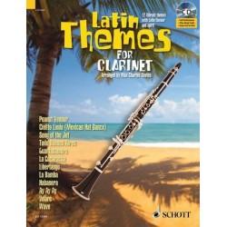 Latin Themes (+CD) : für Klarinette (Klavierbegleitung als PDF zum Ausdrucken)