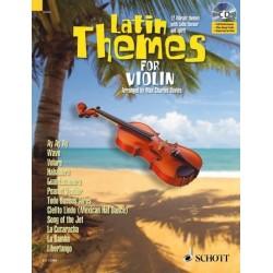 Latin Themes (+CD) : für Violine (Klavierbegleitung als PDF zum Ausdrucken)