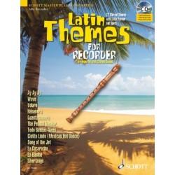Latin Themes (+CD) : für Altblockflöte (Klavierbegleitung als PDF zum Ausdrucken)
