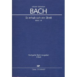 Bach, Johann Sebastian: Es erhub sich ein Streit Kantate Nr.19 BWV19 Studienpartitur (en/dt)