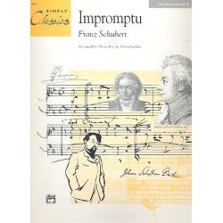 Schubert, Franz: Impromptu op.142,2 (Theme) : for easy piano