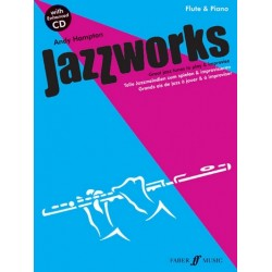Hampton, Andy: Jazzworks (+CD) : for flute and piano