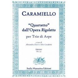 Caramiello, Giovanni: Quartetto dall'Opera Rigoletto for 3 harps score and parts