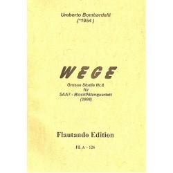 Bombardelli, Umberto: Wege : für Blockföten (SAAT) 4 Partituren