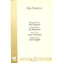 Davidsson, Elias: Duette und Trios : f├╝r 2-3 Fagotte (und Klavier)