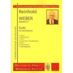 Weber, Reinhold: Suite WebWV57 : f├╝r 3 Klaviere Stimmen