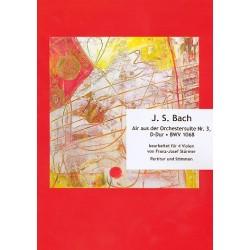 Bach, Johann Sebastian: Air aus der Suite D-Dur Nr.3 BWV1068 : für 4 Violen Partitur und Stimmen