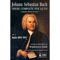 Bach, Johann Sebastian: Suite BWV995 : per liuto barocco Smith, Hopkinson, arr.