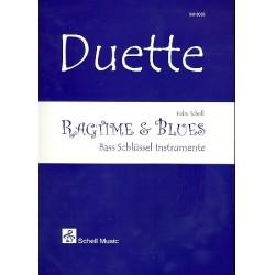 Schell, Felix: Ragtime & Blues : für 2 C-Instrumente im Bassschlüssel Spielpartitur