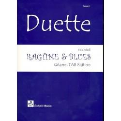 Schell, Felix: Ragtime & Blues : f├╝r 2 Gitarren in Tabulatur Spielpartitur