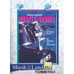 Rabanser, Norbert: Purple Drums : für Schlagzeug und Blasorchester Partitur und Stimmen
