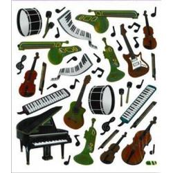 Stickers: Musikinstrumente 2