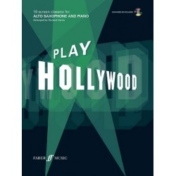 Play Hollywood (+CD): for alto saxophone and piano