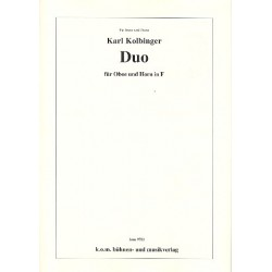 Kolbinger, Karl: Duo : f├╝r Oboe und Horn in F 2 Partituren