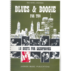 Jasinski, Richard: Blues and Boogie for two : for 2 saxophones (AT) score