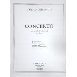 Milhaud, Darius: Concerto pour marimba (et vibraphon) et orchestre : pour marimba (et vibraphon) et piano, 2parties