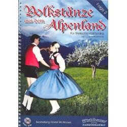 Volkstänze aus dem Alpenland Band 2 (+CD) : für 1-2 Steirische Harmonikas Spielpartitur