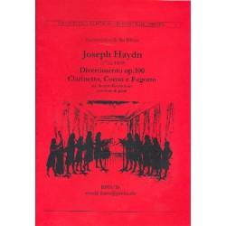 Haydn, Franz Joseph: Divertimento op.100 : f├╝r Klarinette, Horn und Fagott Partitur und Stimmen