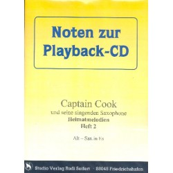 Captain Cook Heimatmelodien Band 2 (+CD) : Es- und B-Instrumente