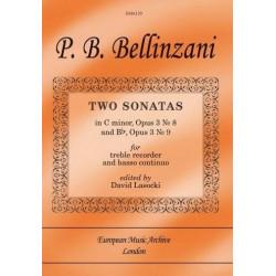 Bellinzani, Paolo Benedetto: 2 Sonatas : for treble recorder and Bc