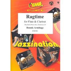 Armitage, Dennis: Ragtime : f├╝r Fl├Âte und Klavier Klarinette ad lib Stimmen