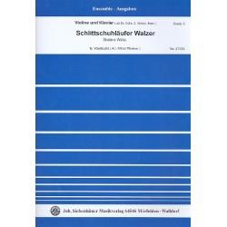 Waldteufel, Emil: Schlittschuhläufer-Walzer : für Violine und Klavier (Vl2/Vc/Kb ad lib) Stimmen