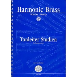 Zellner, Hans: Tonleiter-Studien : für Posaunenchor Ausgabe in C (mit Transponierhilfe)