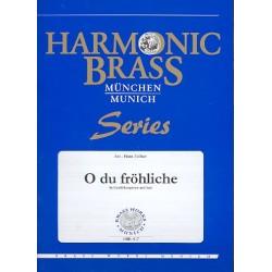 O du fröhliche : für 2 Trompeten, Horn, Posaune, Tuba und Orgel Stimmen