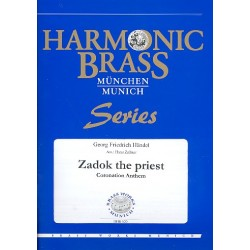 Händel, Georg Friedrich: Zadok the Priest : für 2 Trompeten, Horn, Posaune, Tuba und Orgel Stimmen