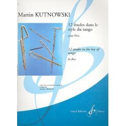Kutnowski, Martín: 12 études dans le style du tango : pour flute