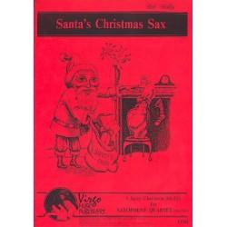 Santa's Christmas Sax (Medley): for 4 saxophones (SATBar/AATBar) score and parts