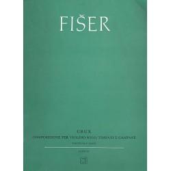 Fiser, Lubos: Crux : für Violine, Pauke und Glocken Partitur und Stimme
