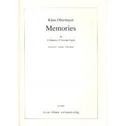 Obermayer, Klaus: Memories : f├╝r Klarinette, Horn und Fagott Partitur und Stimmen