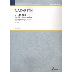 Nazareth, Ernesto: 3 Tangos für Flöte, Klarinette (Viola) und Gitarre Partitur und Stimmen