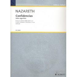 Nazareth, Ernesto: Confidencias für Flöte, Klarinette (Viola) und Gitarre Partitur und Stimmen