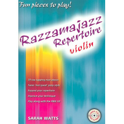 Watts, Sarah: Razzamajazz Repertoire (+CD): for violin and piano