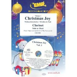 Christmas Joy Band 1 (+CD) : f├╝r 1-2 Klarinetten und Klavier (Orgel)