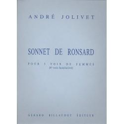 Jolivet, Andr├®: Sonnet de Ronsard : pour 3-4 voix de femmes partition