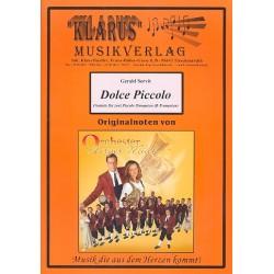 Servit, Gerald: Dolce Piccolo für 2 Piccolo-Trompeten und Blasorchester Direktion und Stimmen