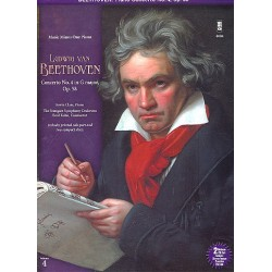 Beethoven, Ludwig van: Concerto on G Major Nr.4 op.58 for piano and orchestra (+2 CD's) : for 2 pianos, score