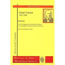 Franck, César: Intrada : für 5 Trompeten (Pauke ad lib) Partitur und Stimmen