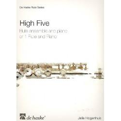 Hogenhuis, Jelle: High Five : für 1-5 Flöten und Klavier Partitur und Stimmen