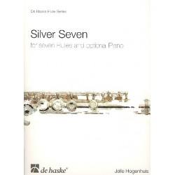 Hogenhuis, Jelle: Silver Seven : f├╝r 7 Fl├Âten (Klavier ad lib) Partitur und Stimmen