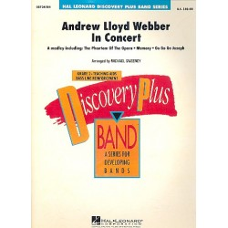 Lloyd Webber, Andrew: Andrew Llloyd Webber in Concert (Medley) : for concert band score and parts