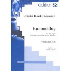 Rimski-Korsakow, Nicolai: Hummelflug : für Mandoline und Klavier Partitur und Stimme