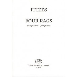 Ittzés, Tamás: 4 Rags : for piano