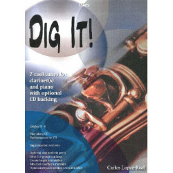 Lopez-Real, Carlos: Dig it (+CD) : for 1-3 clarinets and piano