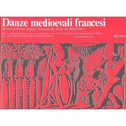 Danze medioevali francesi : f├╝r 1-2 Sopranblockfl├Âten, Schlagzeug ad lib Spielpartitur