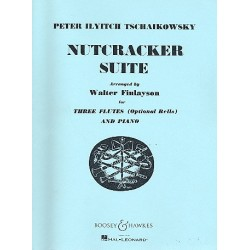 Tschaikowsky, Peter Iljitsch: Nutcracker Suite : for 3 flutes and piano (bells ad lib) score and parts