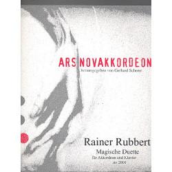Rubbert, Rainer: Magische Duette : für Akkordeon und Klavier Spielpartitur